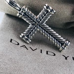 David Yurman Chevron Cross Pendant NWOT